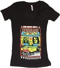 Rob Zombie Alice Cooper Hootenany 2010 Tour Girls Juniors Black T Shirt