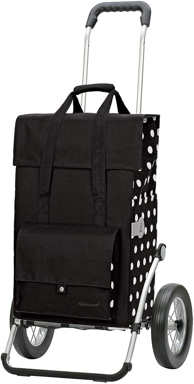 Andersen Shopper Royal mit Metallspeichenrad 25 cm und 49 Liter Tasche Gerry schwarz