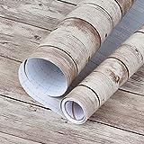 Sunm Boutique, pellicola autoadesiva per mobili, in PVC, effetto legno, impermeabile, per mobili, cucina, comò, tavolo, 45 cm × 3 m