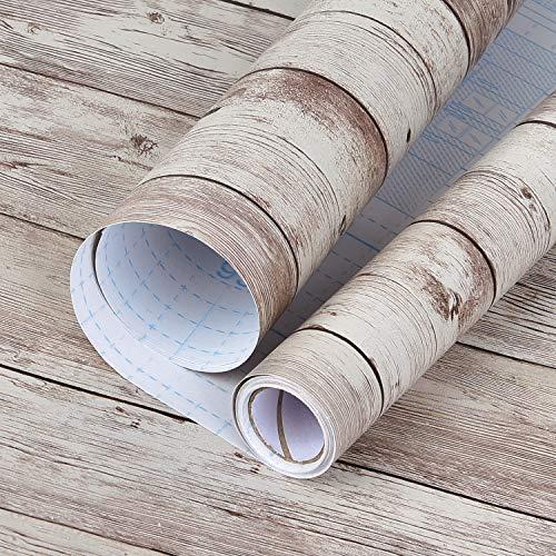 Sunm Boutique Lámina autoadhesiva de madera para muebles, de PVC, aspecto de madera, resistente al agua, lámina decorativa para muebles, cocina, cómoda, armario, mesa, 45 cm x 10 m