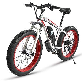 XXCY Bicicleta Plegable,Bicicleta Eléctrica, Neumático De Grasa De ...