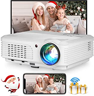 Native 1920x1080P Full HD Home LCD Projector Wireless WiFi Bluetooth Projector Built-in Android OS, HiFi Speakers, 4D Keys...