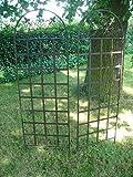 2 Stück prächtige Rankgitter, Rankhilfe, Rankzaun, Eisen, 185 cm hoch