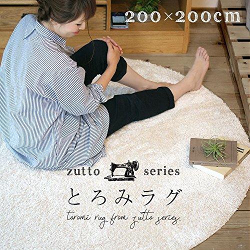 ラグ 優しすぎる肌触りのとろみラグ イルミエ(200×200cm) チャコ−ル スミノエ 抗アレルギー 防炎 防ダニ ふかふか おしゃれ リビング 北欧 塩系 カフェ風 日本製 国産
