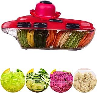 Trancheuse Mandoline coupe-légumes Veggie Dicer Mandoline 6 En 1 Fruits Et Légumes Slicer Multi Function Veg Cutter ZHAOYO...