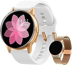 Smartwatch dames fitnessarmband horloge | gratis metalen band | sport Bluetooth calorieën tracker hartslagmeter stappentel...