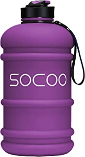 SOCOO 1.0-2.2L Water Bottle for Kids Motivational Workout Fitness Jug/BPA-Free for Gym Athletic Outdoor Sports Water Bottle