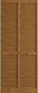 Kimberly Bay Traditional Louver Louver Nutmeg Solid Core Wood Bi-fold Door (80x30)