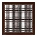 250x250 mm Braun Lüftungsgitter 25x25 cm Insektenschutz Gitter Lüftung aus ABS Kunststoff
