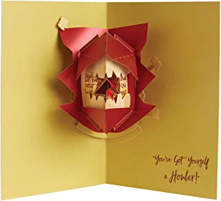 Insight Editions Harry Potter Howler Pop Up Greeting Card - 3D Notecard with Envelope