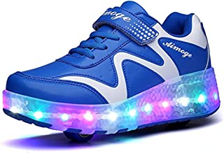 EVLYN Kids Lightweight Fashion Sneakers LED Light up Shoes Wheels Roller Skate Shoes