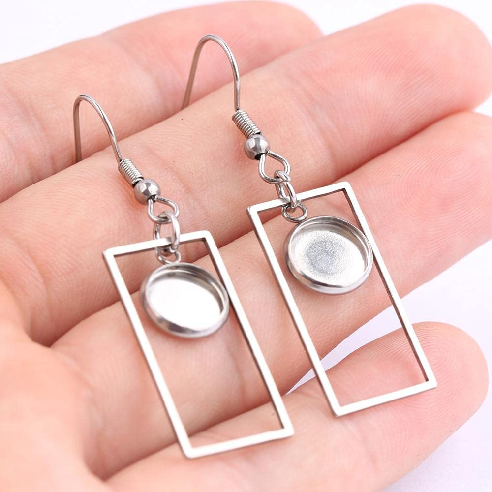 FC-15715 DIY-Jewelry 10pcs Fit 8mm Cabochon Base safety Outlet SALE Blanks Earring