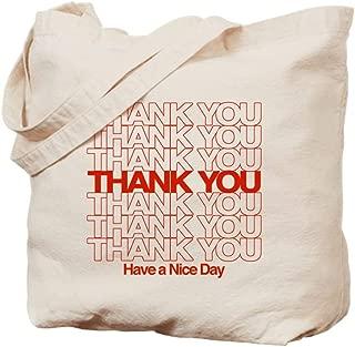 CafePress Thank You Have A Nice Day Natural Canvas Tote Bag, Reusable Shopping Bag