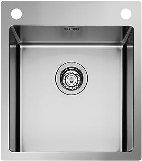Pyramis Istros 45x51 1B Edelstahlspüle poliert Einbauspüle Spülbecken Küche