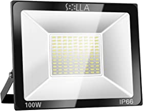 SOLLA 100W LED Flood Light, IP66 Waterproof, 8000lm, 550W Equivalent, Super Bright..
