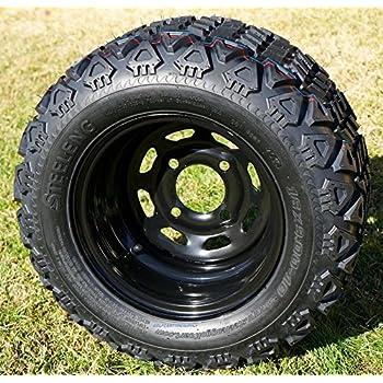 "Amazon.com: 10"" Black Steel Golf Cart Wheels and 22x11-10"