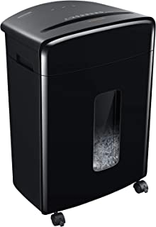 Bonsaii 20-Sheet Heavy Duty Cross-Cut Paper and Credit Card Shredder with 6.6 Gallon Pullout Basket and 4 Casters, 20 Minu...