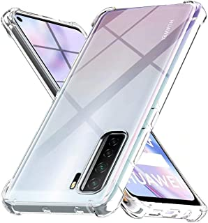 WJMWF Kompatibel med Huawei P40 Lite 5G-Fodral [Två Skärmskydd] 360 ° Stötsäker Skal i Heltäckande Kristall Mjuk TPU Silik...