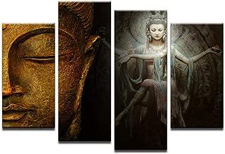 Print On Canvas Pictures Home Decor HD Prints 4 Pieces Buddha Paintings Shiva Nataraja Posters Living Room Wall Art 40x80cmx2 40x100cmx2 unframed