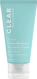 Paulas Choice Clear Oil Free Crema Hidratante Facial - Crema de Noche Ligera Hidrata Reduce Poros y Combate Puntos Negro...