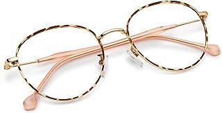 Blue Light Blocking Glasses for Women Men-FEIDU Blue Light Glasses Round Eyeglasses Frame Computer Gaming Reading Phones Glasses
