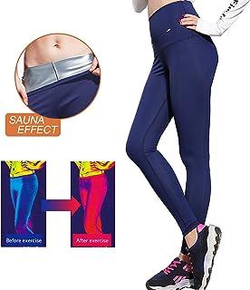 Pantalones para Adelgazar,Pantalones Deportivos Mujer, Pantalón de Sudoración Adelgazar, Leggings Push Up, Mallas Termicos de Neopreno, Faja Reductora Adelgazante para Deporte