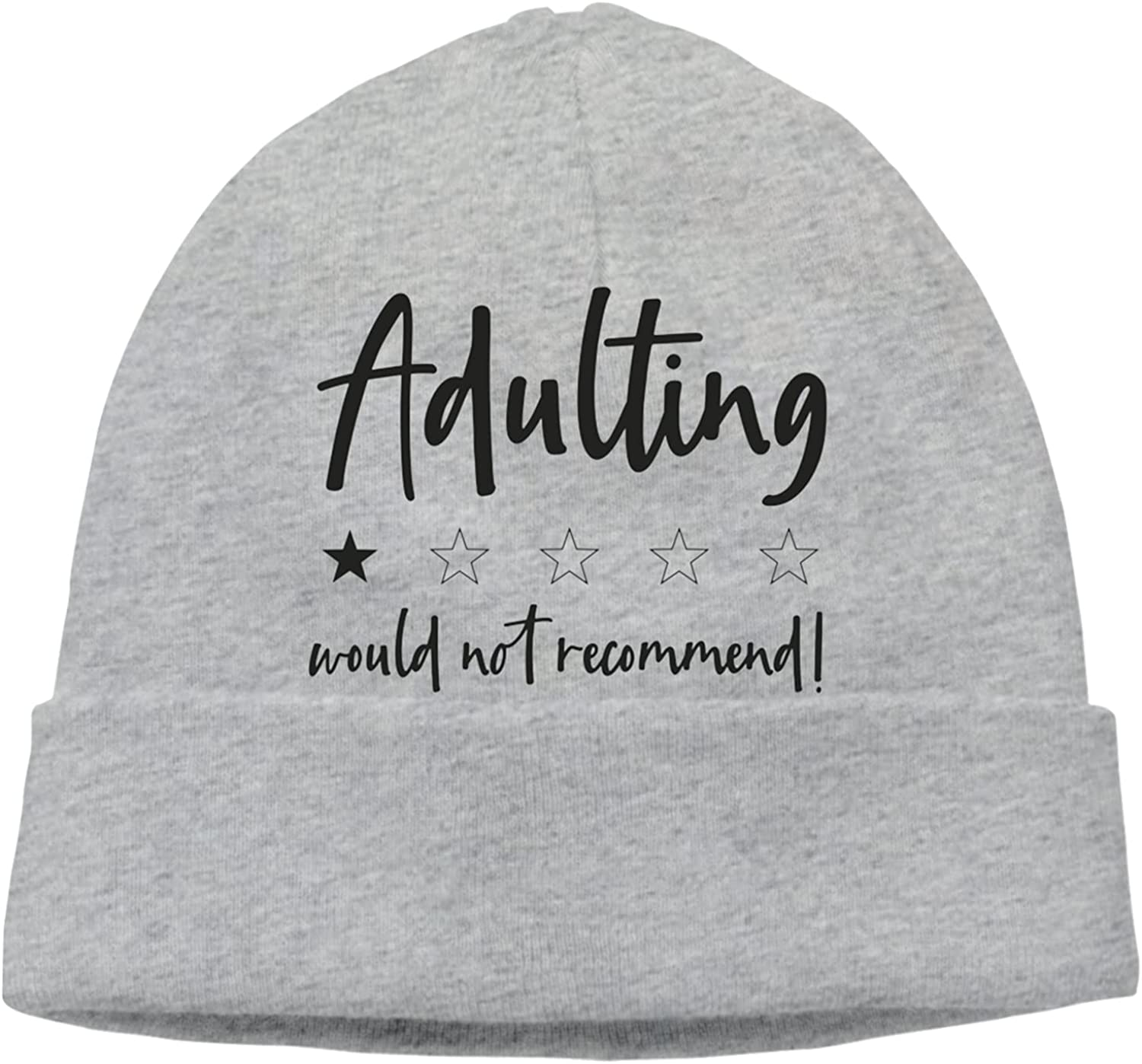 Adulting Would Oklahoma City Mall Not Recommend2 Slogan Unisex Cap Hats Fixed price for sale Beanie Warm