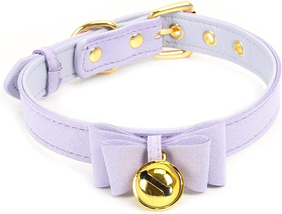 Limited time trial price Max 88% OFF Bell Choker Collar Necklace Velve Bow Kitty Lolita