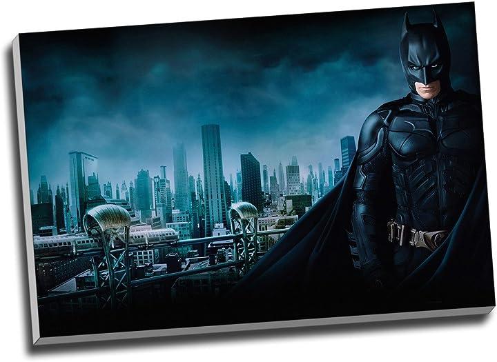 panther print quadro batman stampa su tela di batman gotham city su tela su tela formato a1 76 2 cm x 50 8 cm b01n8s5mu6