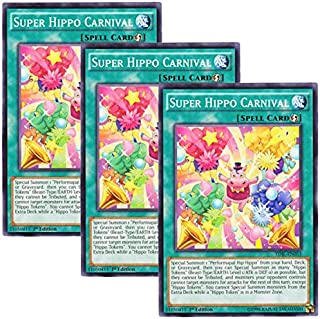 Yu-Gi-Oh! y3 Pieces setz English Version TDIL-EN 053 Super Hippo Carnival Super Covered Carnival (Normal) 1st Edition