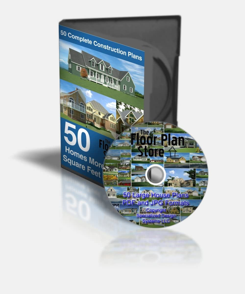 50 Complete Large House Plans on CD in タイムセール 豪華な PDF