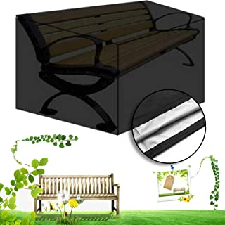 Benches Garden Outdoors Color Black Size 134x66x89cm Mahfei Outdoor Garden Bench Covers Patio Bench Seat Cover Garden Furniture Covers Anti Uv Waterproof Windproof Easy To Store Oxford Fabric Three Sizes