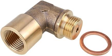 Sedeta Winkel 90 ° Lambda Sauerstoffsensor Extender O2 90 Grad abgewinkelter Bung Extension Spacer für Decat Wasserstoffmessing