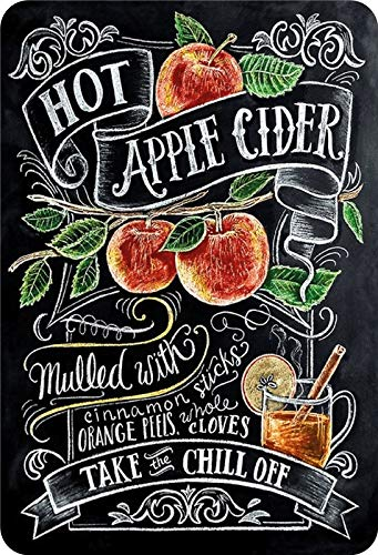 Metalen bord Hot Apple Cider recept