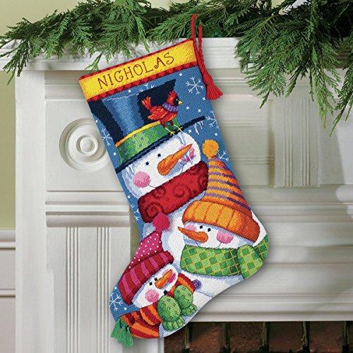 Freezin' Season Stocking Needlepoint Kit-16 Long Stitched In Wool & Thread