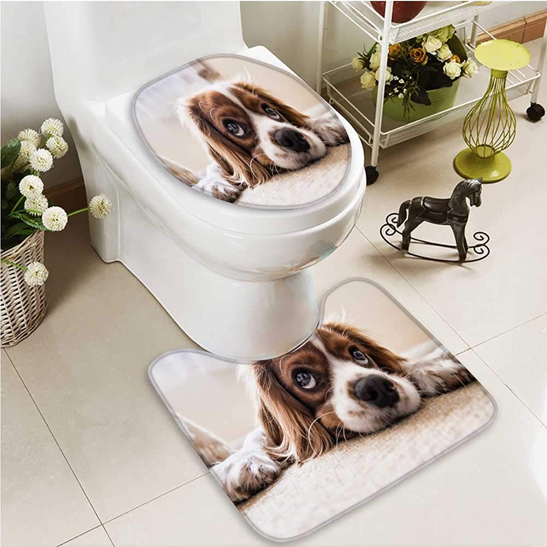 Printsonne NonSlip Bath Toilet Mat pet Dog in Bathroom Accessories