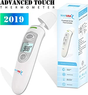Baby Forehead Thermometer with Ear Function by (Support and Safe) Clinical Accuracy Thermometer for Fever Suitable for Baby, Toddler, Infant, and Adults (White)