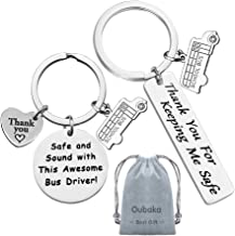 Bus Driver Keychain Gift,Bus Driver Appreciation Gift Bus Driver Thank You Gift Safe and Sound with This Awesome Bus Drive...