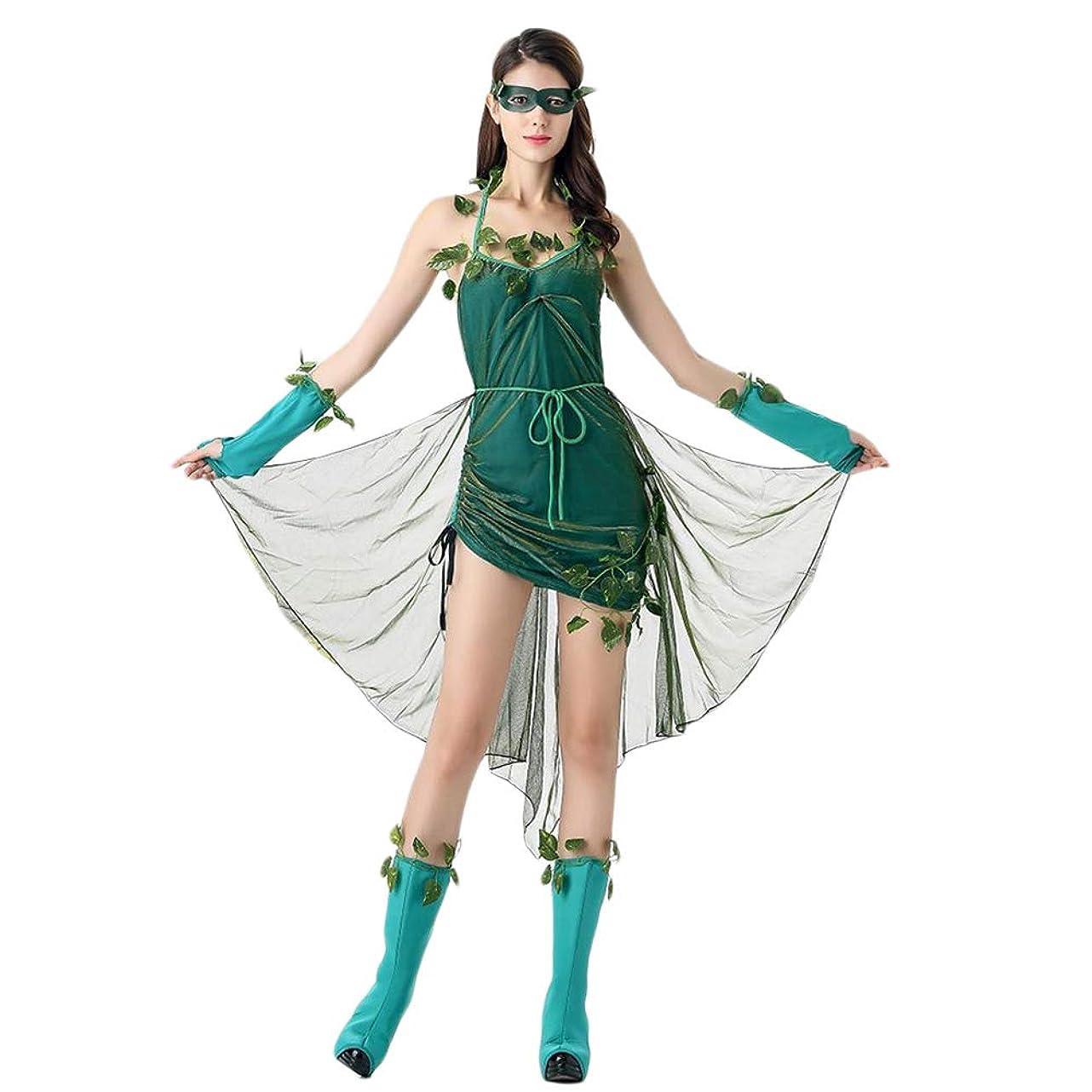 クラッシュ溶融襟BESTOYARD ハロウィンステージの衣装美しいエルフの衣装森の悪魔の女神女性のコスプレ衣装ユニフォームパーティードレススーツ