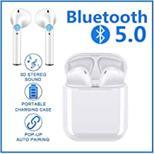 Bluetooth Headphones Wireless Headphones 5.0 Bluetooth Headphones in Ear Wireless Stereo Headset in Ear Handsfree for Apple Airpods Android / iPhone