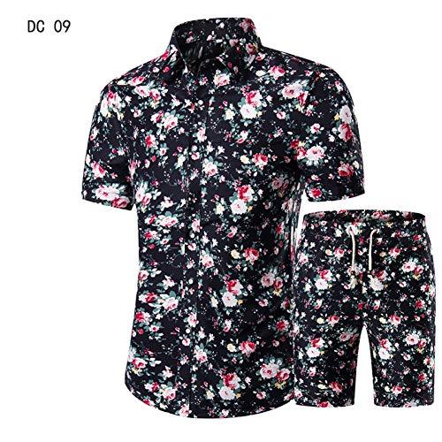CHENS Manches Longues/Slim fit/Classique/XL Casual Suit Mens Hawaiian Beach Été Ensembles Vêtements Turndown Collars Affaires Hauts Chemises + Shorts Mode Hommes Ensemble