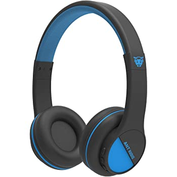 (Renewed) Ant Audio Treble 500 On -Ear HD Bluetooth Headphones with Mic (Black and Blue)