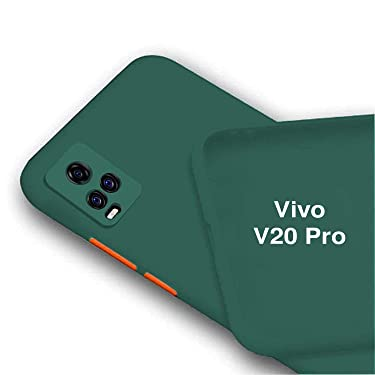 BRUSSEL - Vivo V20 pro Matt TPU Back Cases and Covers||Shockproof with Camera and Screen Protection Case Cover for Vivo V20 Pro [ Green]