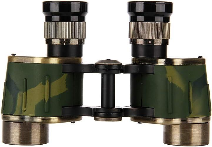 HOUYAZHAN Jumelles rétro compactes 6x24 pour Enfants Adultes, télessope Compact en métal pour l'observation des Oiseaux en Plein air