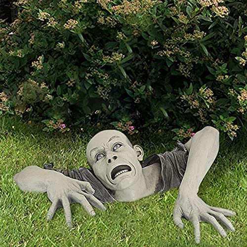Enjovdery Zombie Garden Decorations, Garden Spooky Statue Pop up Animatronic Ghoul Funny Resin...