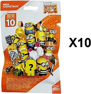 Despicable Me Mega Construx Minions 3 Series 10 Mini Figure Blind Bag Party Favours - Pack of 10
