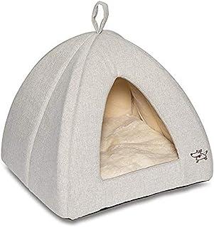 """""""Best Pet Supplies Best Pet SuppliesPet Tent-Soft Bed for Dog and Cat Sand Linen, 16"""""""" x 16"""""""" x H:14"""""""""""" (TT633-M)"""
