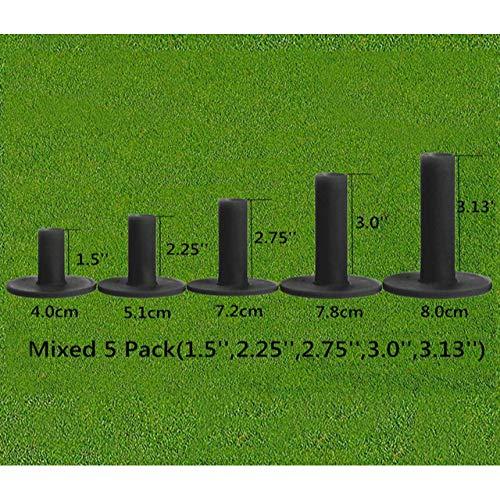 WUQIUYU 5 Stück/Set Robuste Golf-T-Shirts aus schwarzem Gummi