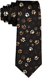 Tie Funny Neckties Colorful Paw Print Fashion Wide Novelty Neck Ties For Men teen