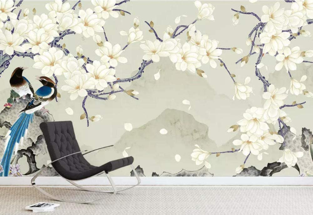 3D Wallpaper Custom New Chinese Hand Painted Safety and shopping trust MagnoliaFlower Pen